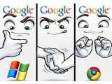 Google berhasil kalahkan microsoft dalam teknologi.
